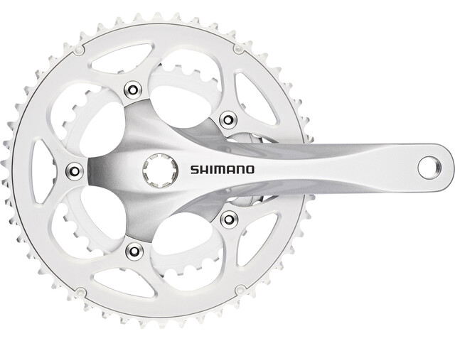Shimano FC-R345 Crankset 50/34 2x9-speed, silver